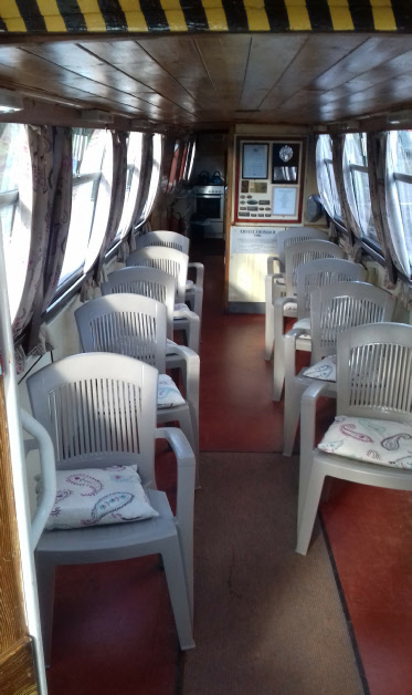 Main cabin of Ernest Thomas narrowboat